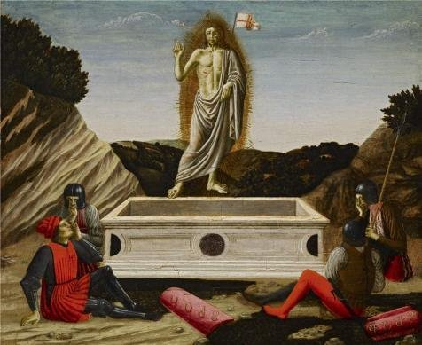 Oil Painting 'Francesco Botticini - The Resurrection, C. 1465-70', 8 x 10 inch / 20 x 25 cm , on High Definition HD canvas prints is for Gifts And Bar, Bath Room And Bed Room Decoration (Red Hood Poster Dc compare prices)