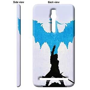 TheGiftKart™ Paint Art Blue Dragon Back Cover Case for Asus ZenFone 2 DELUXE - Multicolor