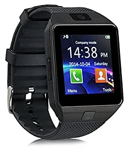 mobicell HTC One X+ COMPATIBLE Bluetooth Smart Watch Phone With Camera and Sim Card Support With Apps like Facebook and WhatsApp Touch Screen Multilanguage Android/IOS Mobile Phone Wrist Watch Phone with activity trackers and fitness band features