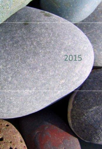 2015: Mini Kalender - STEINE - etwa DIN A6 - 1 Tag pro Seite