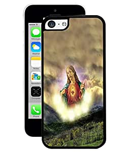 Fuson 2D Printed Lord Jesus Designer Back Case Cover for Apple iPhone 5C - D535