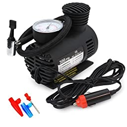 250 PSI 12V Mini Air Compressor Emergency Car and Truck Tire Pump (Balls&Rafts)