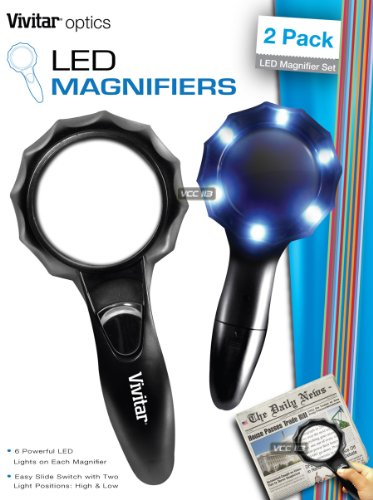 Vivitar Viv-mag-2 Set Of 2 Magnifying Glasses
