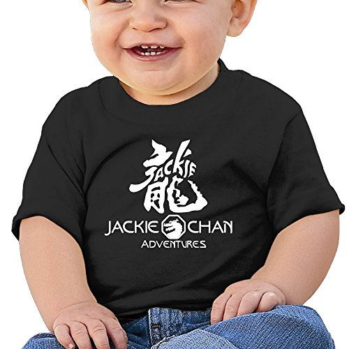 [Babys Boy's & Girl's Jackie Dragon Chan T-shirt Tops Black Size 18 Months] (Chicago Bears Staley Costume)