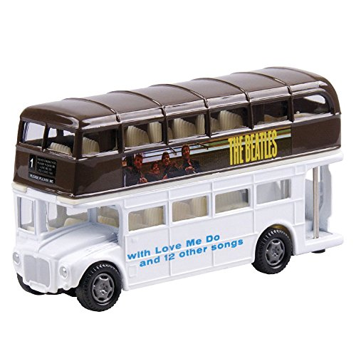 Factory Entertainment The Beatles: Please Please Me Famous Covers Collectable Die-Cast Bus - 1