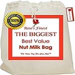 "Finest Nut Milk Bag - 12""x12"" High Qu..."