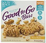 South Beach Diet Good To Go Cereal Bar, Peanut Butter, 5-Count (Pack of 8)