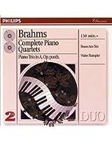 Brahms : Intégrale des quatuors pour piano - Trio pour piano n°4 Op. posthume (Coffret 2 CD)