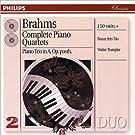 Brahms : Int�grale des quatuors pour piano - Trio pour piano n�4 Op. posthume (Coffret 2 CD)