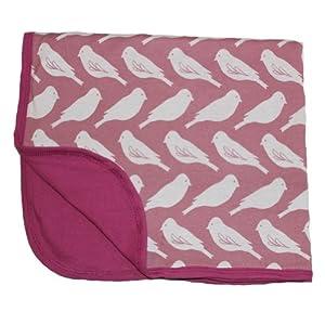 Zebi Stroller Baby Blanket, Plum Bird