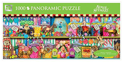 Andrews + Blaine Sweet Shoppe Panoramic Puzzle, 1000-Piece - 1