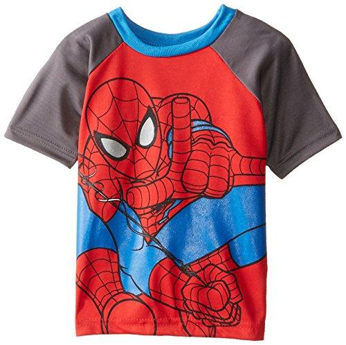 Marvel Little Boys' Spiderman Raglan Tee