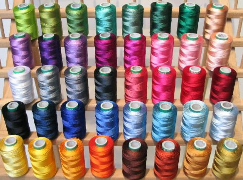 New Threadsrus 40 Large Spools Embroidery Threads for Brother Machine - 500 Meters Spools