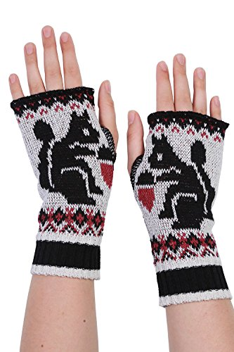 Green 3 Apparel Squirrel Usa Made Hand Warmers (Black/Cranberry) front-371490