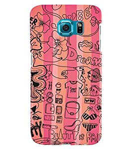 Samsung Galaxy S6 EDGE PLUS MULTICOLOR PRINTED BACK COVER FROM GADGET LOOKS