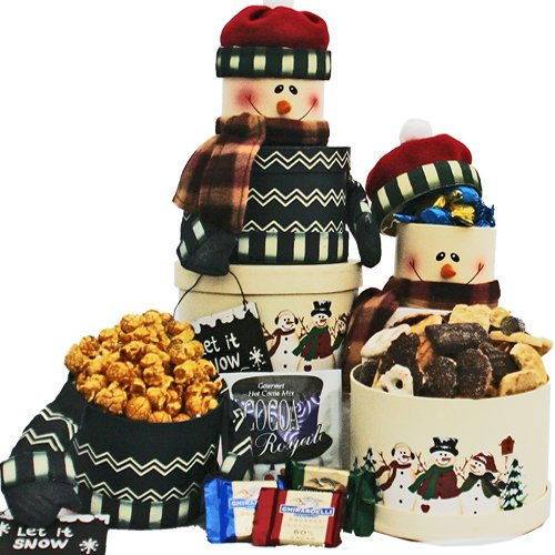 SCHEDULE YOUR DELIVERY DAY! Snowman Stacking Gift Tower