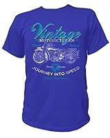 Artdiktat T-Shirt des Hommes VINTAGE MOTORCYCLES - ROAD TESTED - JOURNEY INTO SPEED - QUALITY PERFORMANCE - Biker