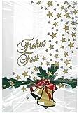 10 Stollenbeutel PP Folie Stollen Weihnachten Weihnachtsstollen Motiv: Glocke 20 + 7 x 48 cm