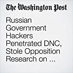 Russian Government Hackers Penetrated DNC, Stole Opposition Research on Trump | Ellen Nakashima