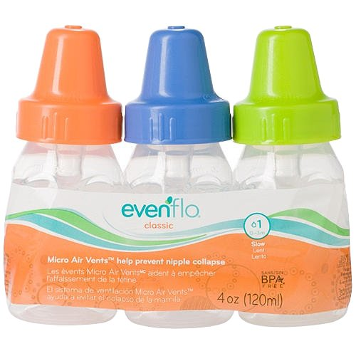Evenflo 3 Pack Classic Clear Bottle without BPA - 1