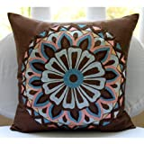 Moroccan Style - Decorative Pillow Covers - Silk Pillow Cover with Embroidery