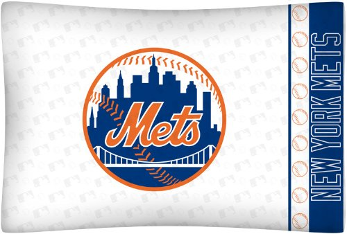 MLB New York Mets Micro Fiber Pillow Case Logo at Amazon.com