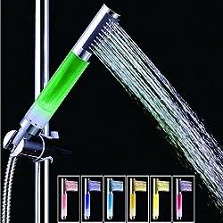 4 LED Lights 7 Colors Gradual Change Water Shower Head