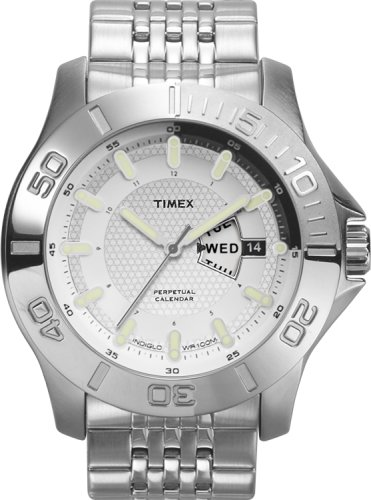 Timex Men's Perpetual Calendar Silvertone Bracelet Watch, 2J891, 7 Year Battery, Indiglo, 100 Meter Water Resistant, Day/Date - Buy Timex Men's Perpetual Calendar Silvertone Bracelet Watch, 2J891, 7 Year Battery, Indiglo, 100 Meter Water Resistant, Day/Date - Purchase Timex Men's Perpetual Calendar Silvertone Bracelet Watch, 2J891, 7 Year Battery, Indiglo, 100 Meter Water Resistant, Day/Date (Timex, Jewelry, Categories, Watches, Men's Watches, Casual Watches, Metal Banded)