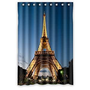 Tye Dye Shower Curtain Eiffel Tower Hooks