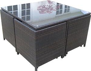 Rattan Garden Furniture Cube Outdoor Patio Set Amazon Co