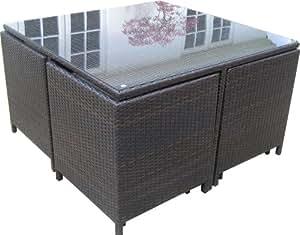 Rattan Garden Furniture Cube Outdoor Patio Set Garden Ou