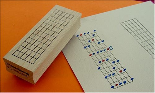 The Ultimate Guitar Chord Rubber Stamp - 12 Frets