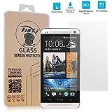 tinxi® Protettore invisibile schermo vetro temperato per HTC One M7 protezioni schermo pellicole protettive superbo 0.3mm 2.5D
