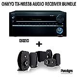 Onkyo TX-NR838 Bundle 7.2-Ch Dolby Atmos Ready Network A/V Receiver w/ HDMI 2.0 + Paradigm Cinema 100 Home Theater System
