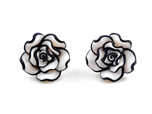 Rose Earrings Amazon And White Rose Earring