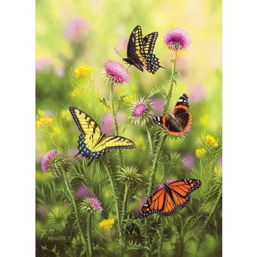 Butterflies & Thistle 500+ Piece Jigsaw Puzzle by Sunsout Inc.