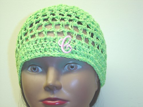 Cp111, Hand Crocheted Lime Green Gimp Skull Cap with Ivory Monogram for Men, Women and Teens - Buy Cp111, Hand Crocheted Lime Green Gimp Skull Cap with Ivory Monogram for Men, Women and Teens - Purchase Cp111, Hand Crocheted Lime Green Gimp Skull Cap with Ivory Monogram for Men, Women and Teens (Gita, Gita Hats, Womens Gita Hats, Apparel, Departments, Accessories, Women's Accessories, Hats)