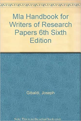 handbook for writers of research papers by joseph gibaldi The mla handbook (8th ed, 2016), formerly the mla handbook for writers of research papers (1977–2009) is a publication of.
