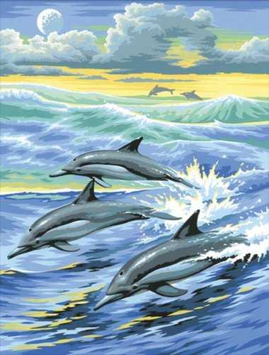 Masterpiece Junior Painting By Numbers - 0031 Dolphins