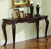 Big Sale Homelegance Ella Martin Sofa Table in Warm Brown Cherry