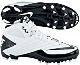 Nike 396254101 Super Speed TD 3/4 Men's Football Cleats (White/Black)