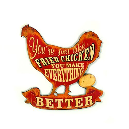 creative-chicken-shaped-metal-plaque-by-creative-co-op
