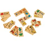 Small World Toys Ryan's Room Wooden Toy - Zoo Domino 30 Pc. Set
