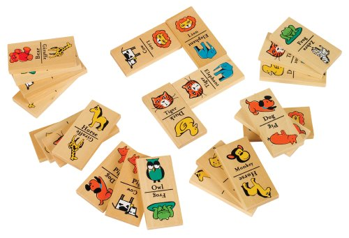 Small World Toys Ryan'S Room -Wood Domino Zoo front-756613