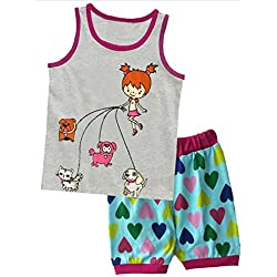 2430f540b2 BOOPH Girls Sleeveless Tank Top 2 Piece Dog Pajamas. Amazon.com