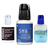 Eyelash Extension Glue SKY D / Extra Powerful Strong Black Adhesive / 2 Sec Drying time / Retention - 5 weeks / Professional Use Only Black Adhesive set of 3