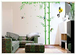 Design Bamboo with China Character Wall Sticker for Living Room or Bedroom Decor by New Design