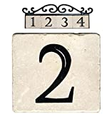 NACH AZ-CLASSIC-2 Marble House Address/Number Tile, Beige