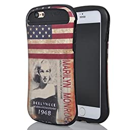 iPhone 6s Case, MIMICat Paint Design Hybrid Fancy Colorful Pattern PC + Silicone Case Cover for Apple iPhone 6S (2015) & iPhone 6 (2014) (Marilyn Monroe)