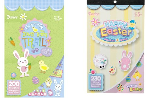 2 BOOKS of EASTER Mini Stickers 430 total - SPRING Crafts CHICKS Bunnies -BASKET Filler TOY
